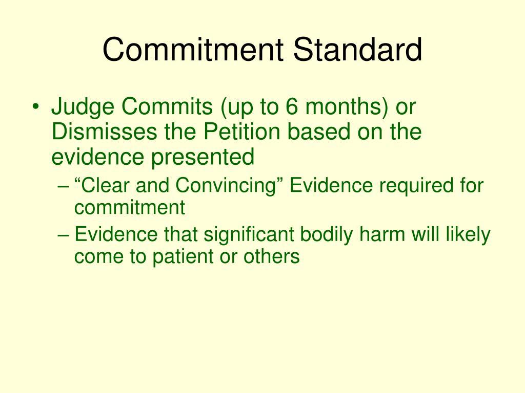 Commitment Standard