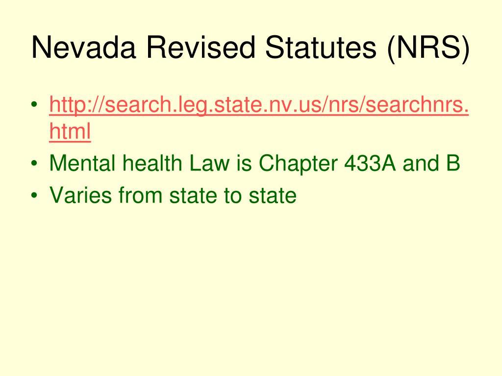 Nevada Revised Statutes (NRS)