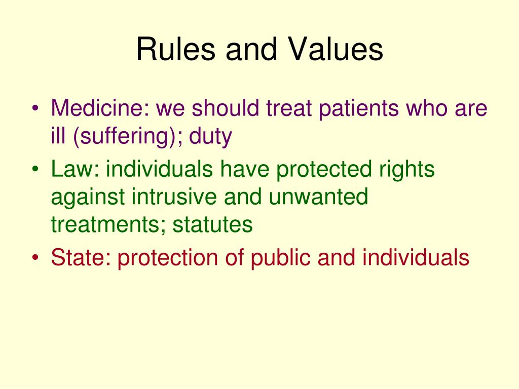 Rules and Values