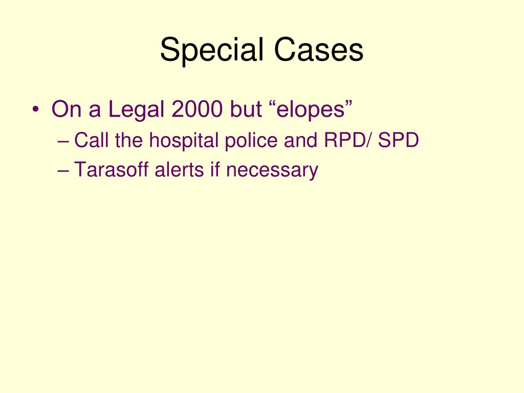 Special Cases