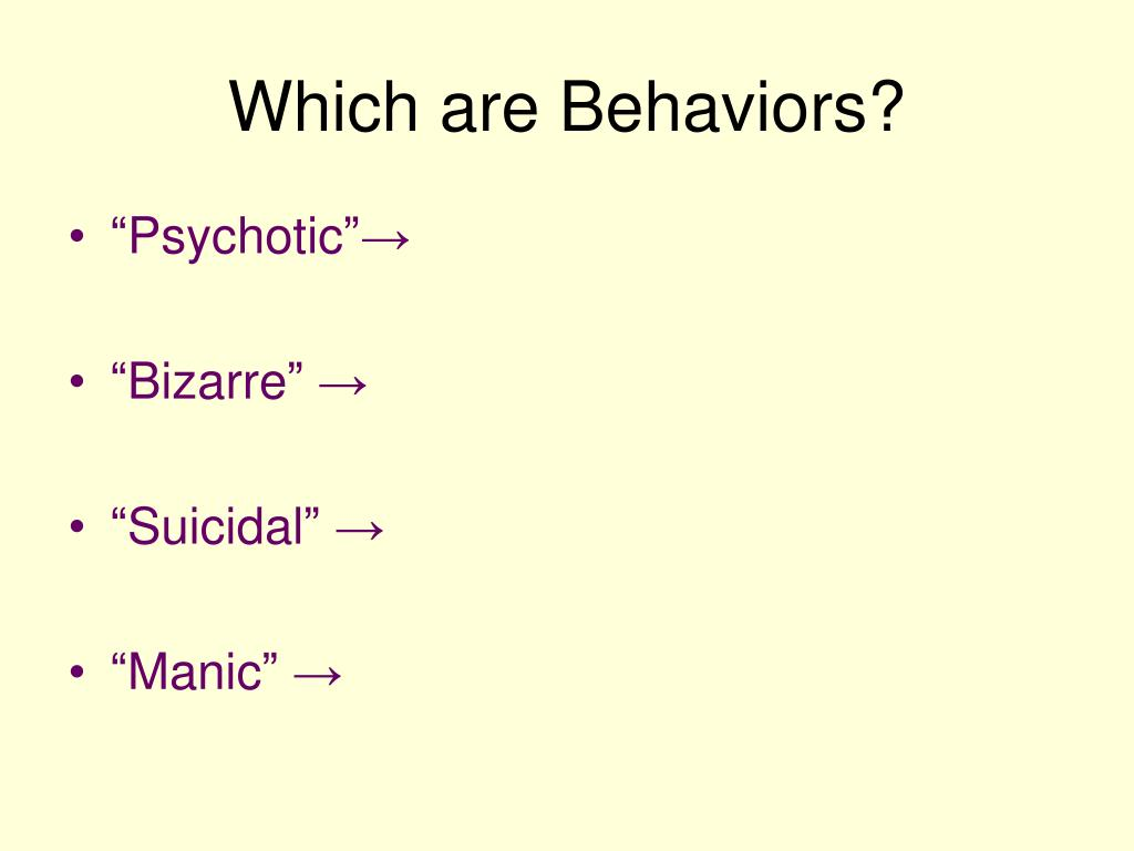 Which are Behaviors?
