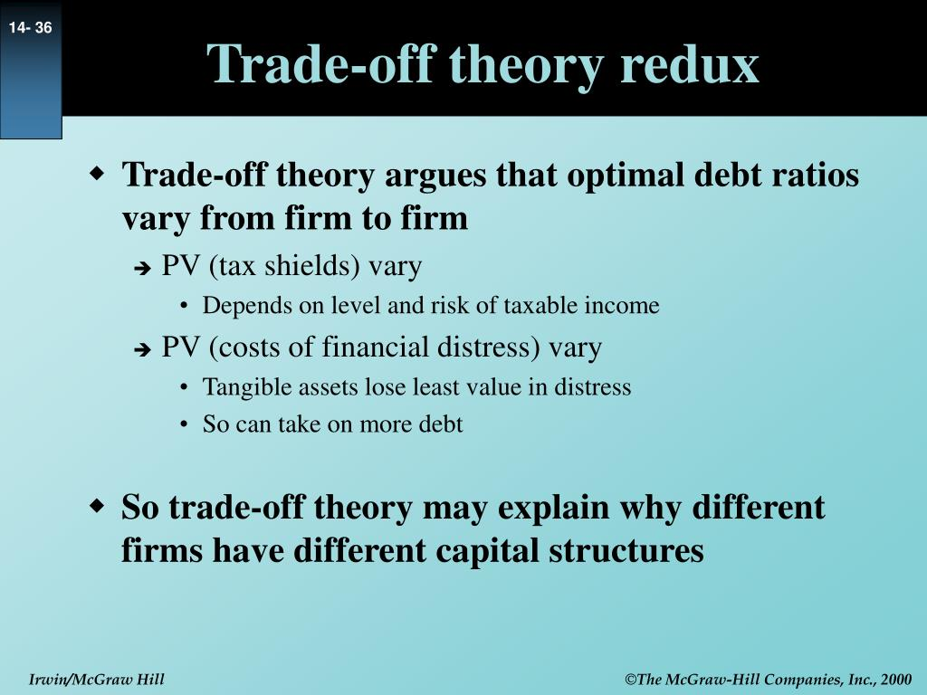 Trade-off theory redux