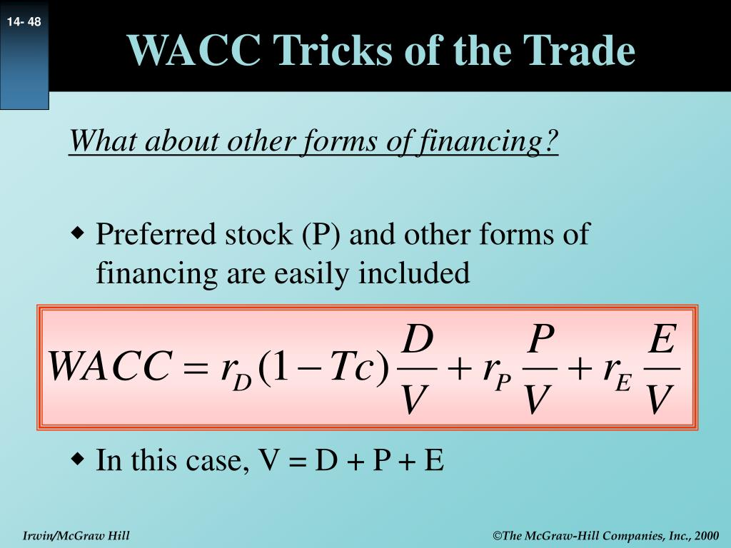 WACC Tricks of the Trade