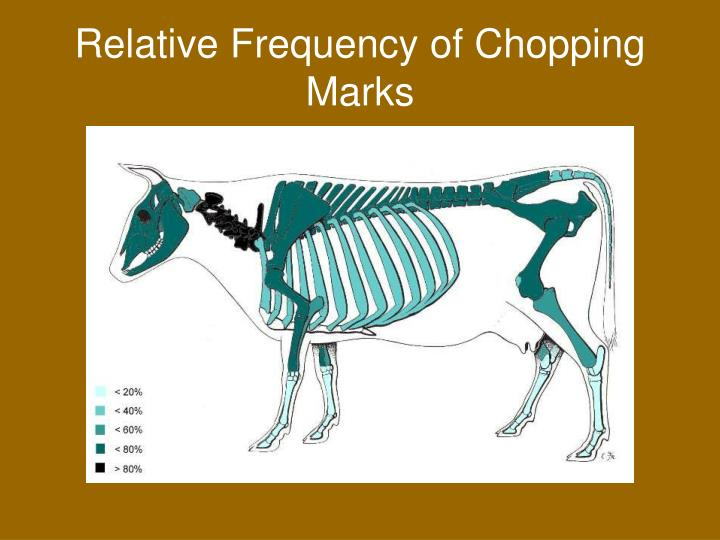 Relative Frequency of Chopping Marks