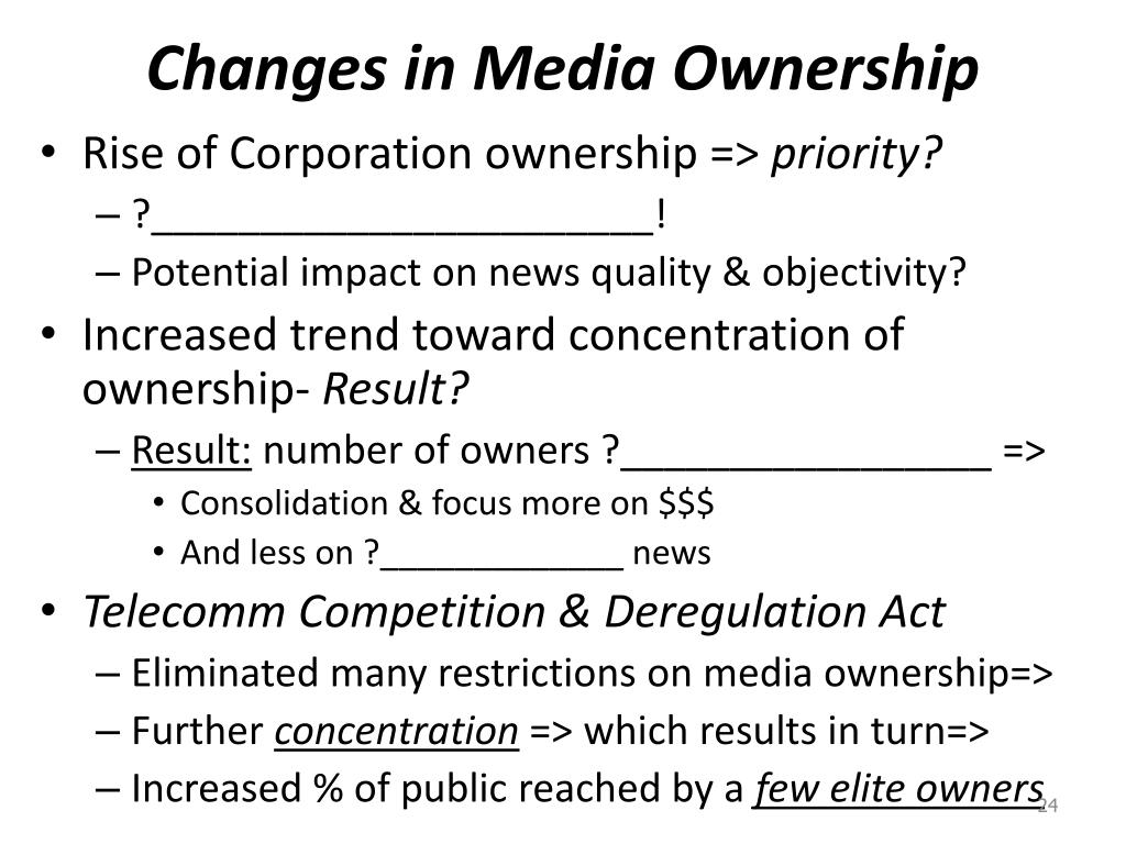 Changes in Media Ownership