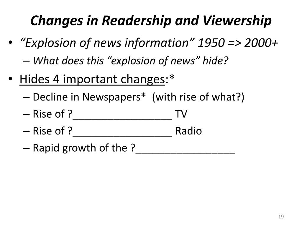 Changes in Readership and Viewership