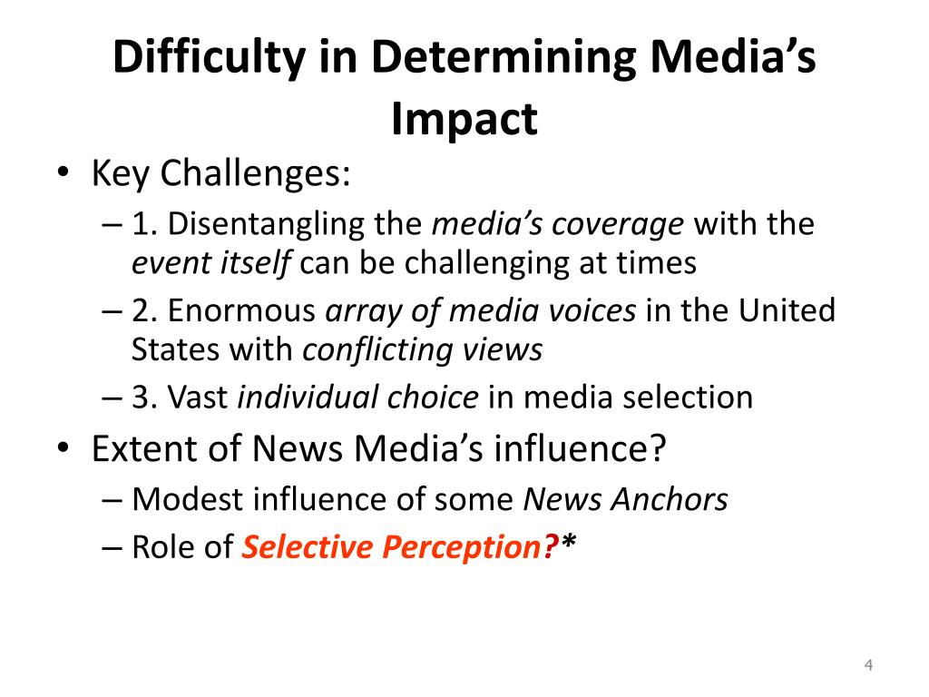 Difficulty in Determining Media's Impact