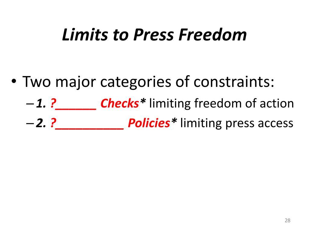 Limits to Press Freedom
