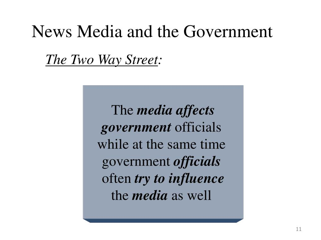 News Media and the Government