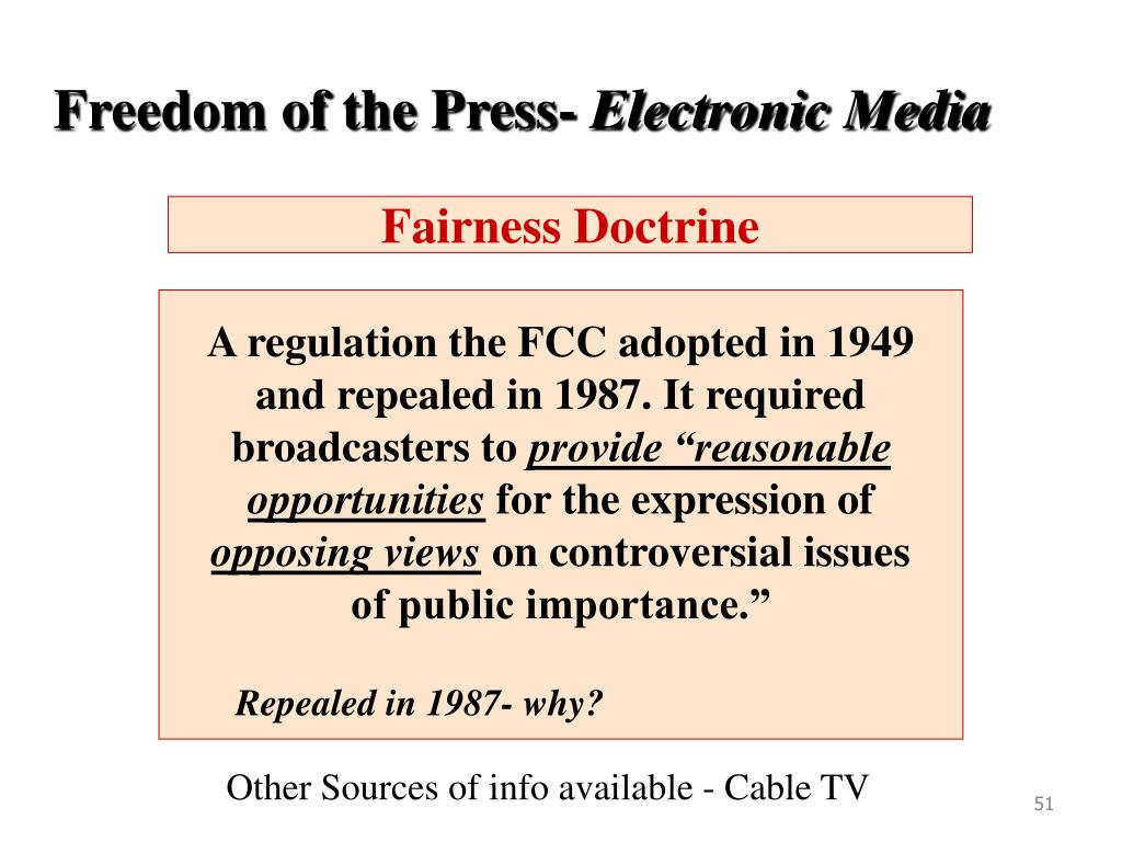 Freedom of the Press-