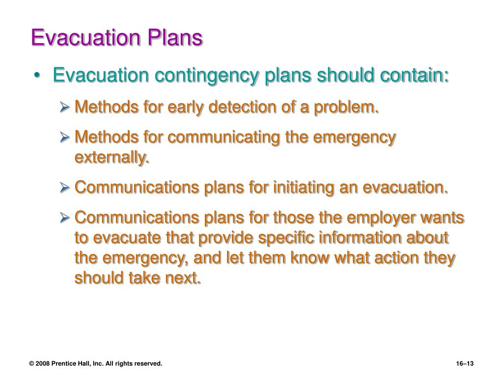 Evacuation Plans