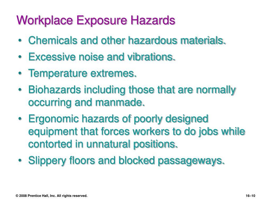 Workplace Exposure Hazards