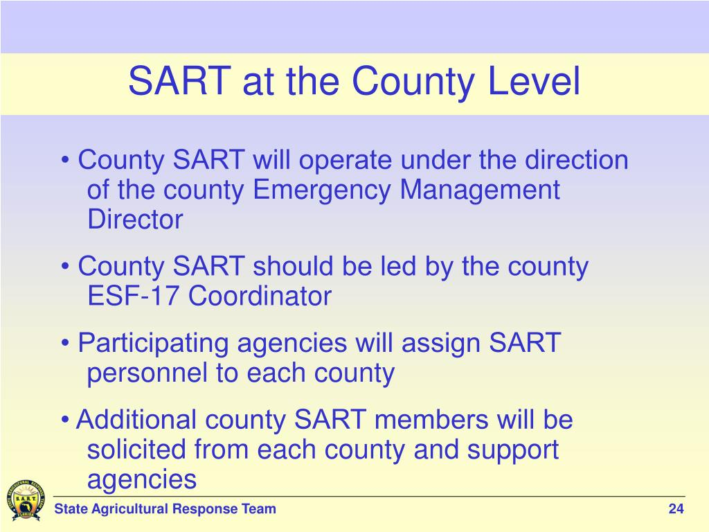 SART at the County Level