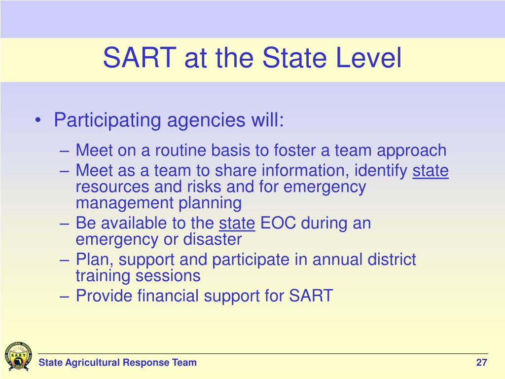 SART at the State Level