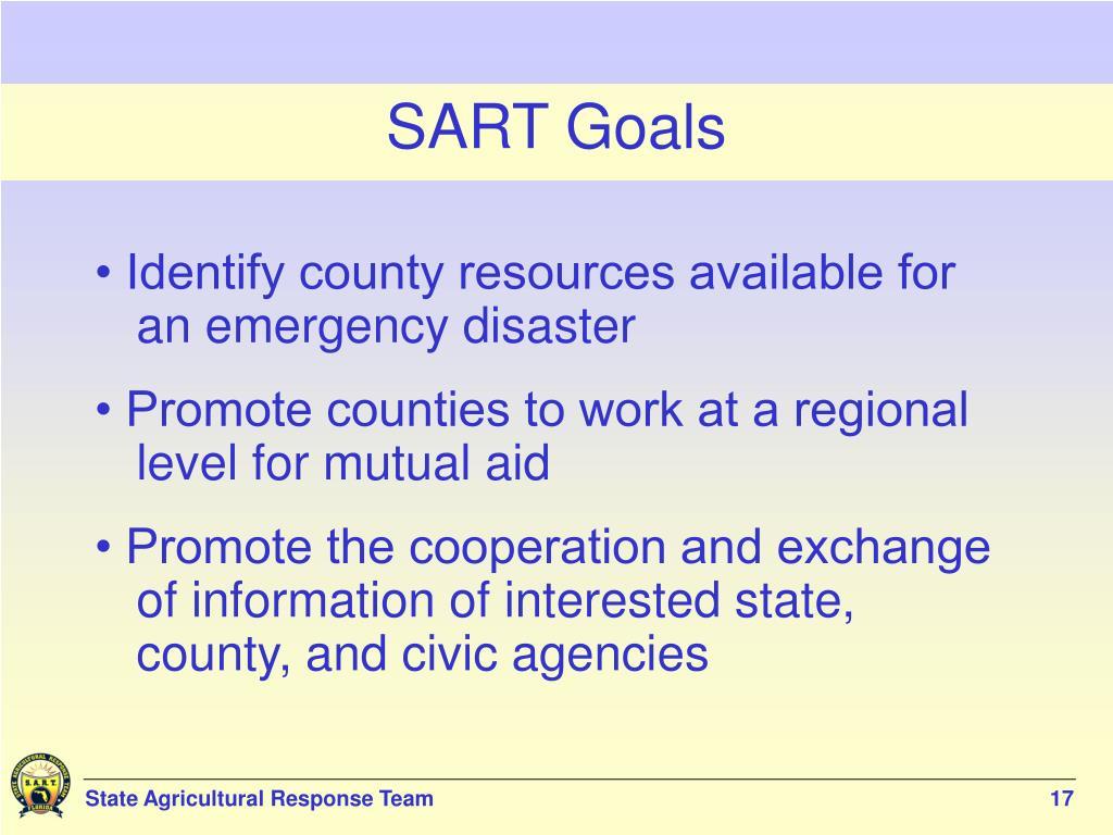 SART Goals