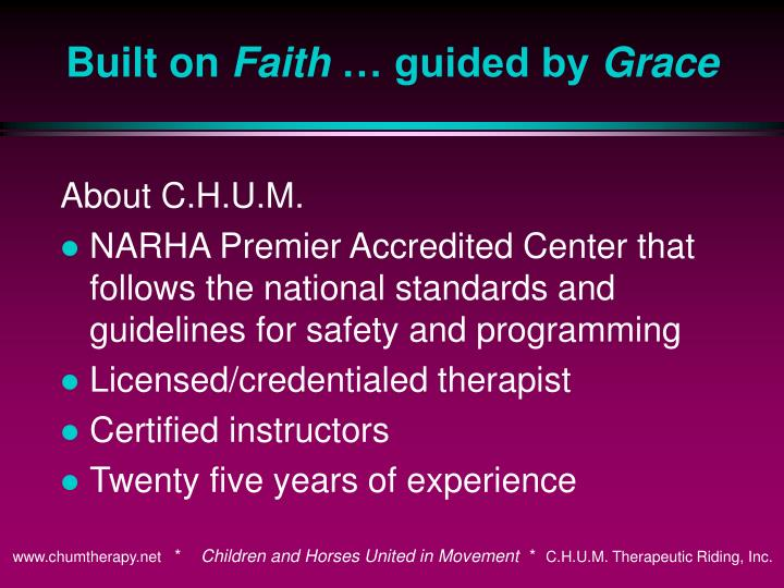 About C.H.U.M.