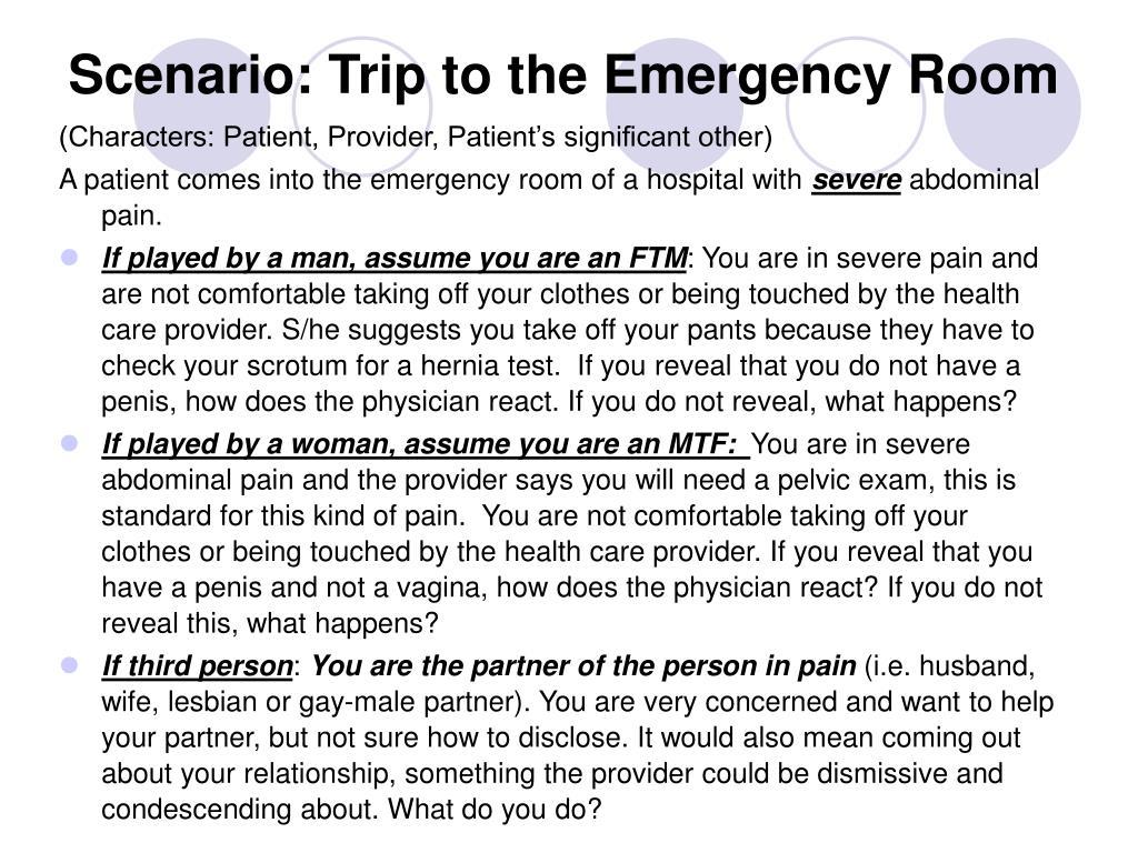 Scenario: Trip to the Emergency Room