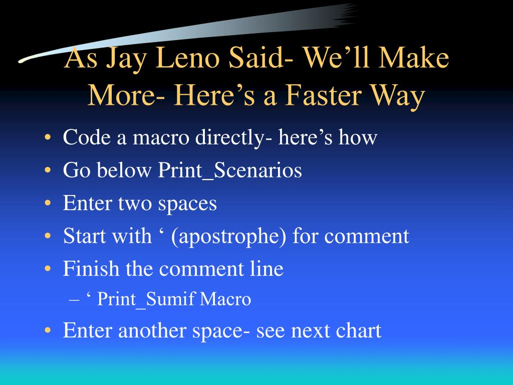 As Jay Leno Said- We'll Make More- Here's a Faster Way