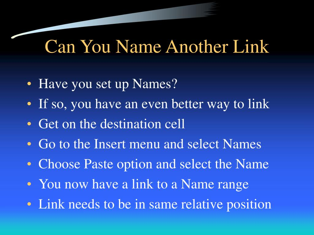 Can You Name Another Link