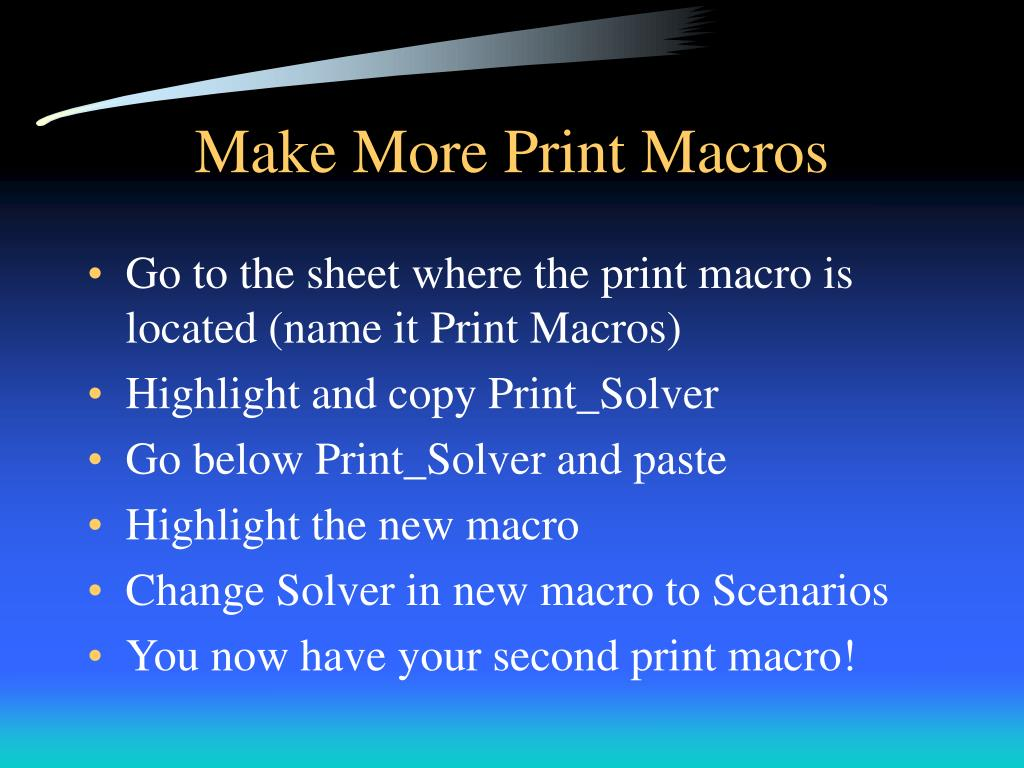 Make More Print Macros