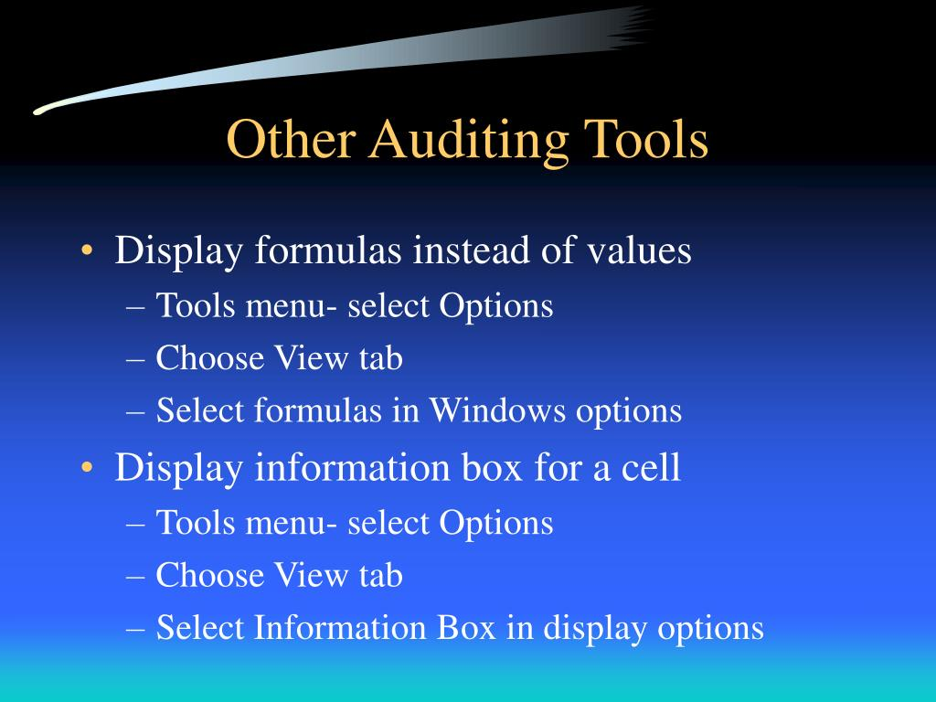 Other Auditing Tools