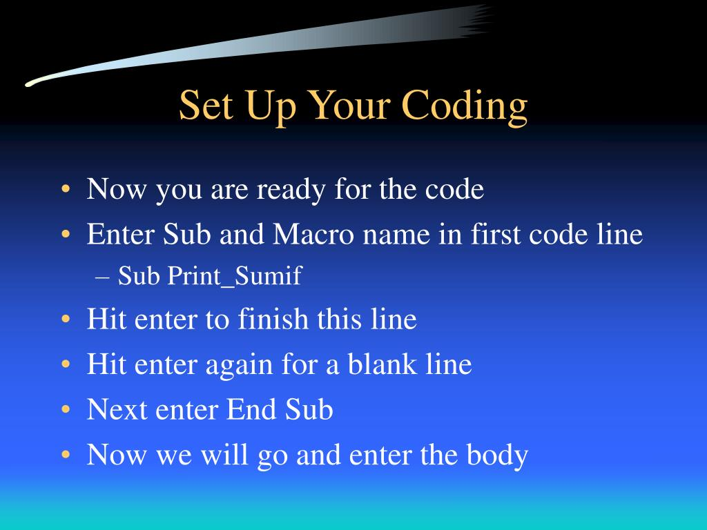 Set Up Your Coding