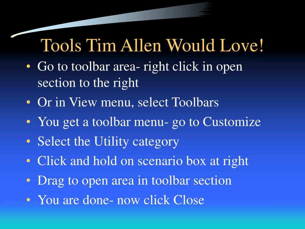 Tools Tim Allen Would Love!