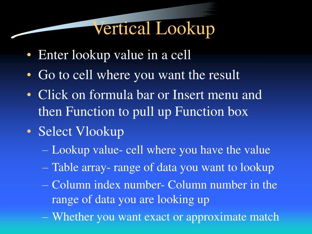 Vertical Lookup