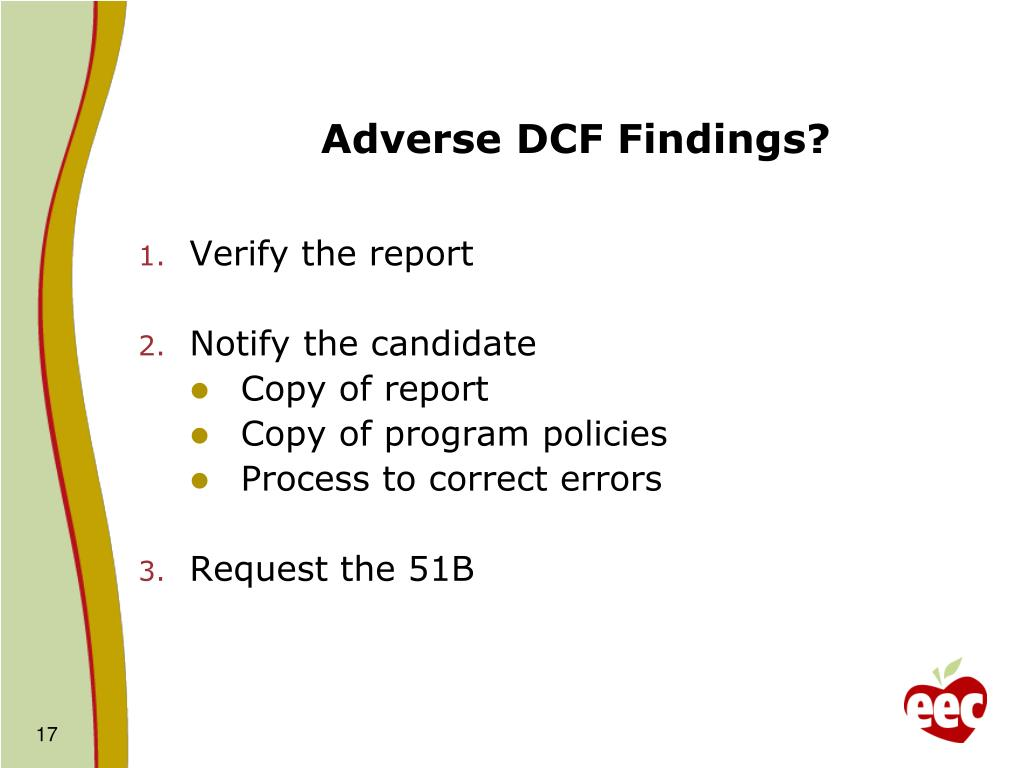 Adverse DCF Findings?