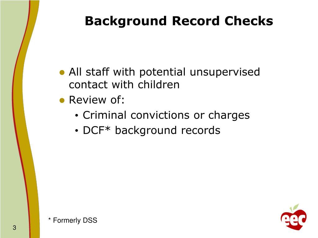 Background Record Checks