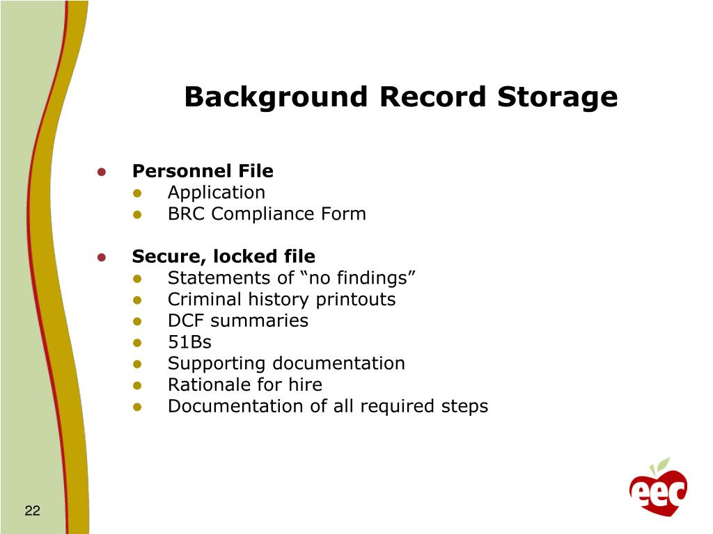 Background Record Storage
