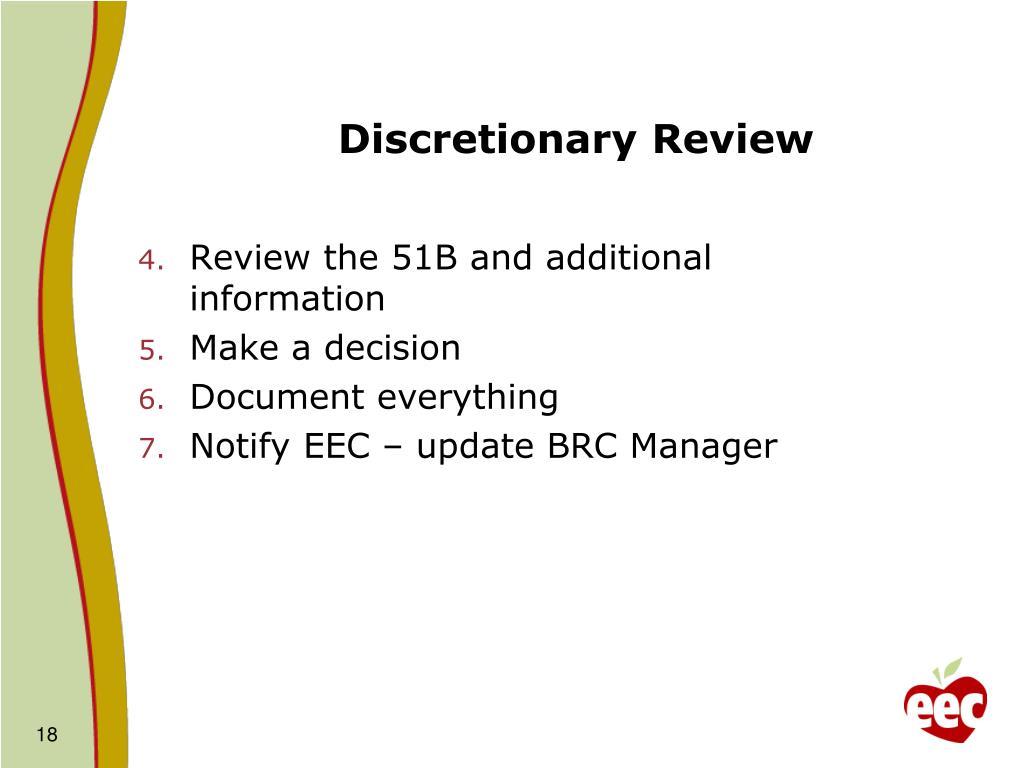 Discretionary Review