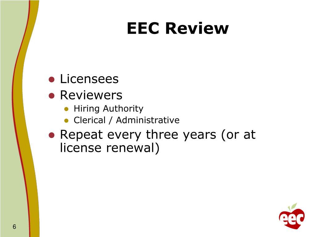 EEC Review