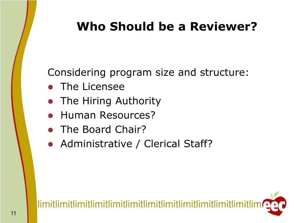Who Should be a Reviewer?