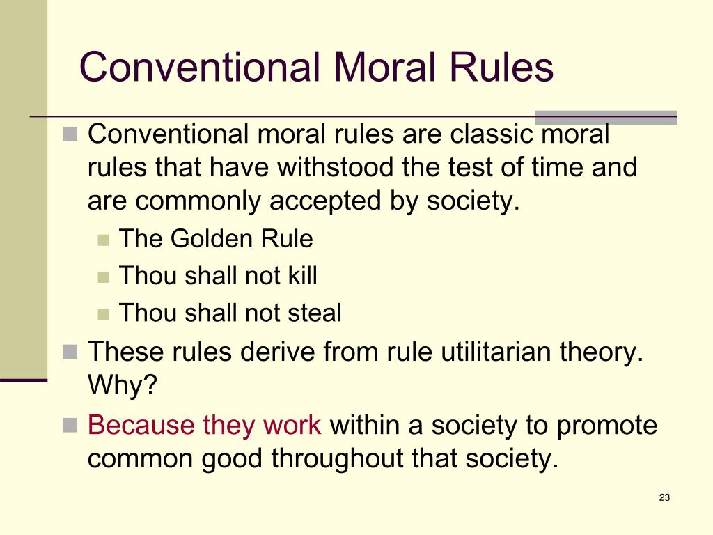 Conventional Moral Rules