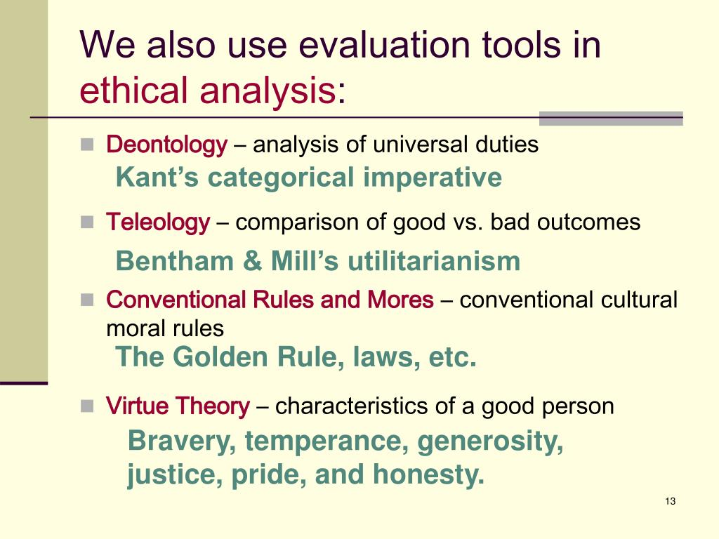 We also use evaluation tools in