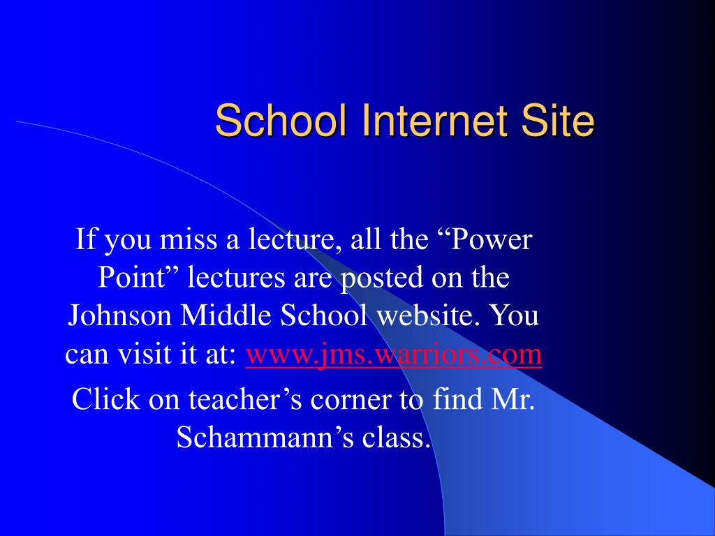 School Internet Site