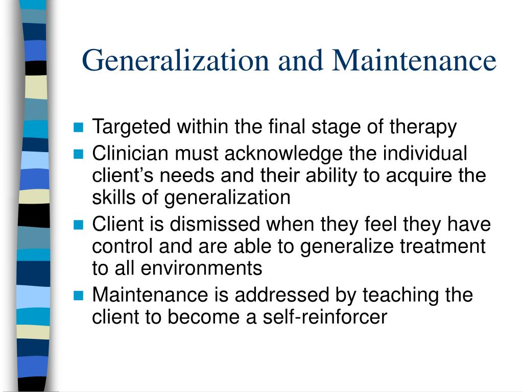 Generalization and Maintenance