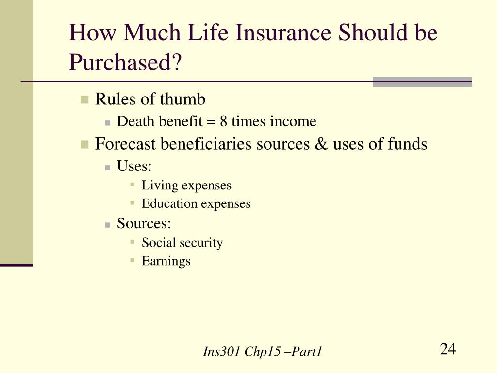 How Much Life Insurance Should be Purchased?