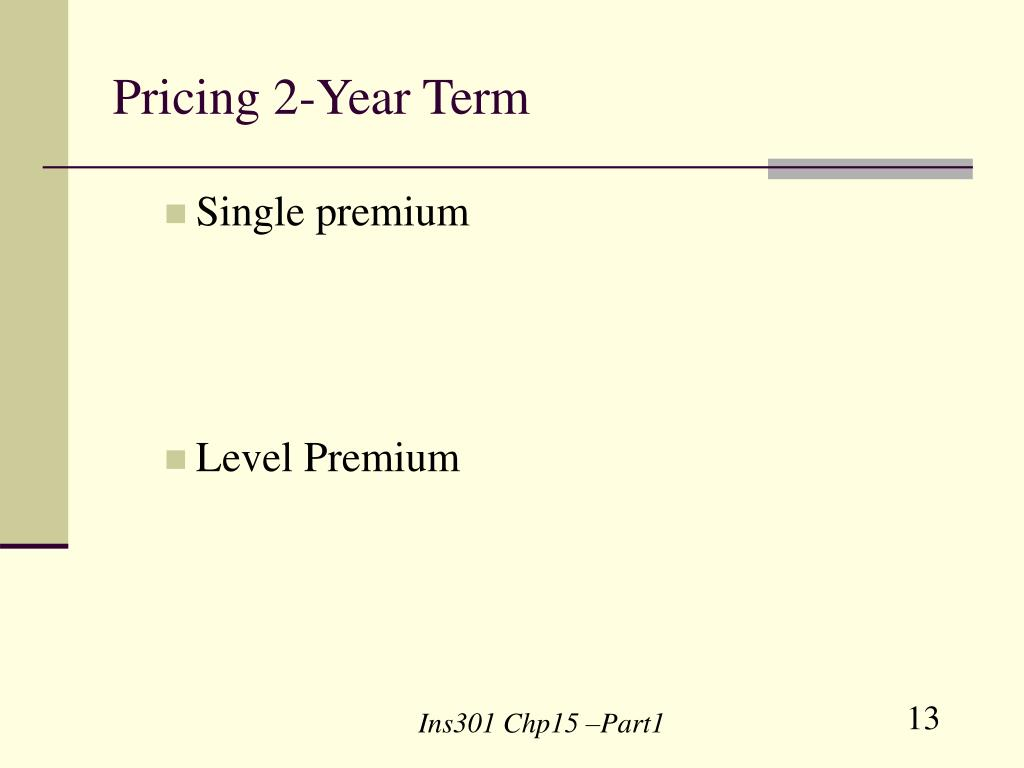 Pricing 2-Year Term