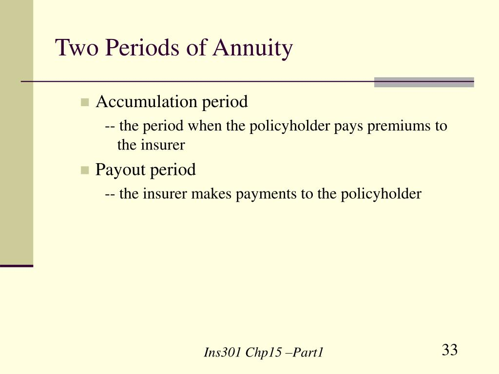 Two Periods of Annuity