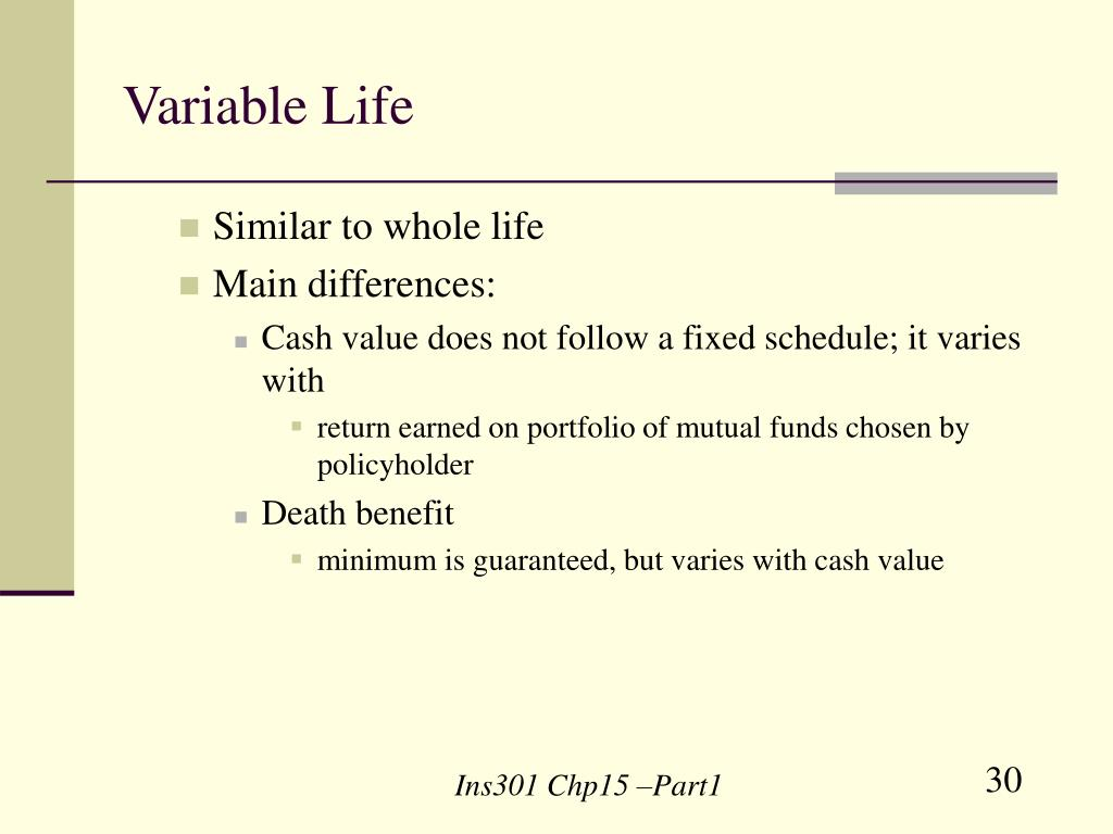 Variable Life