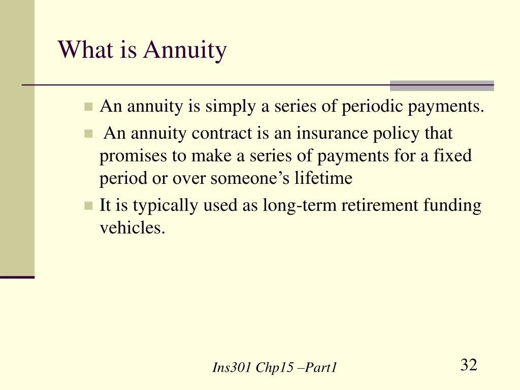 What is Annuity