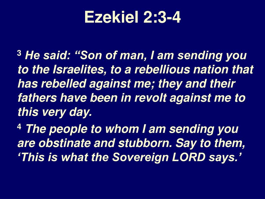 Ezekiel 2:3-4