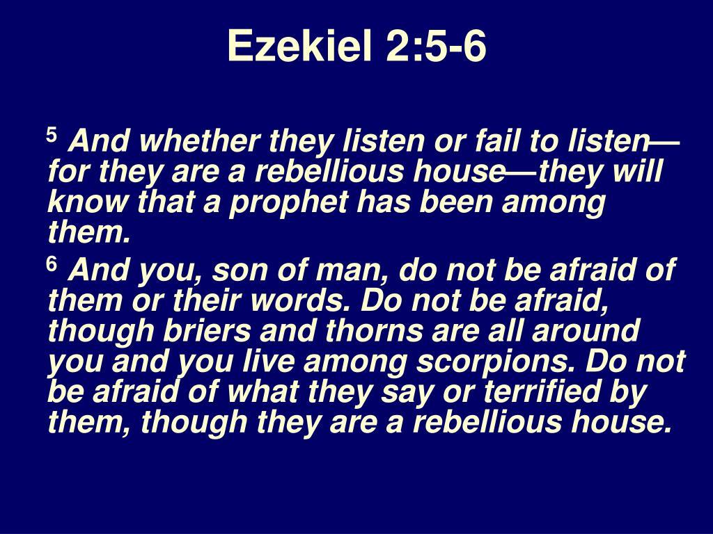 Ezekiel 2:5-6