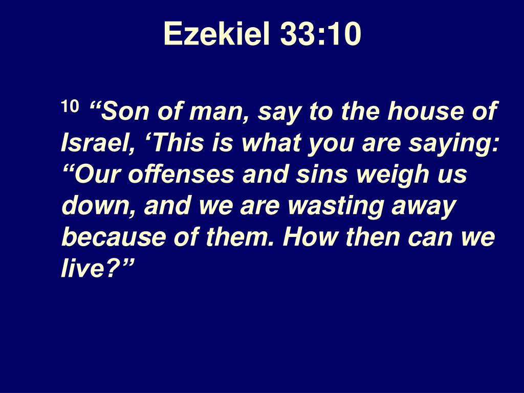 Ezekiel 33:10