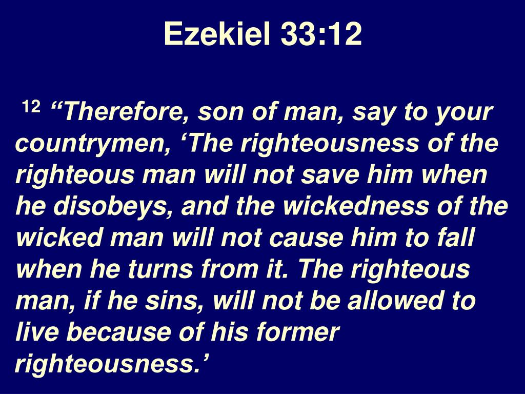 Ezekiel 33:12