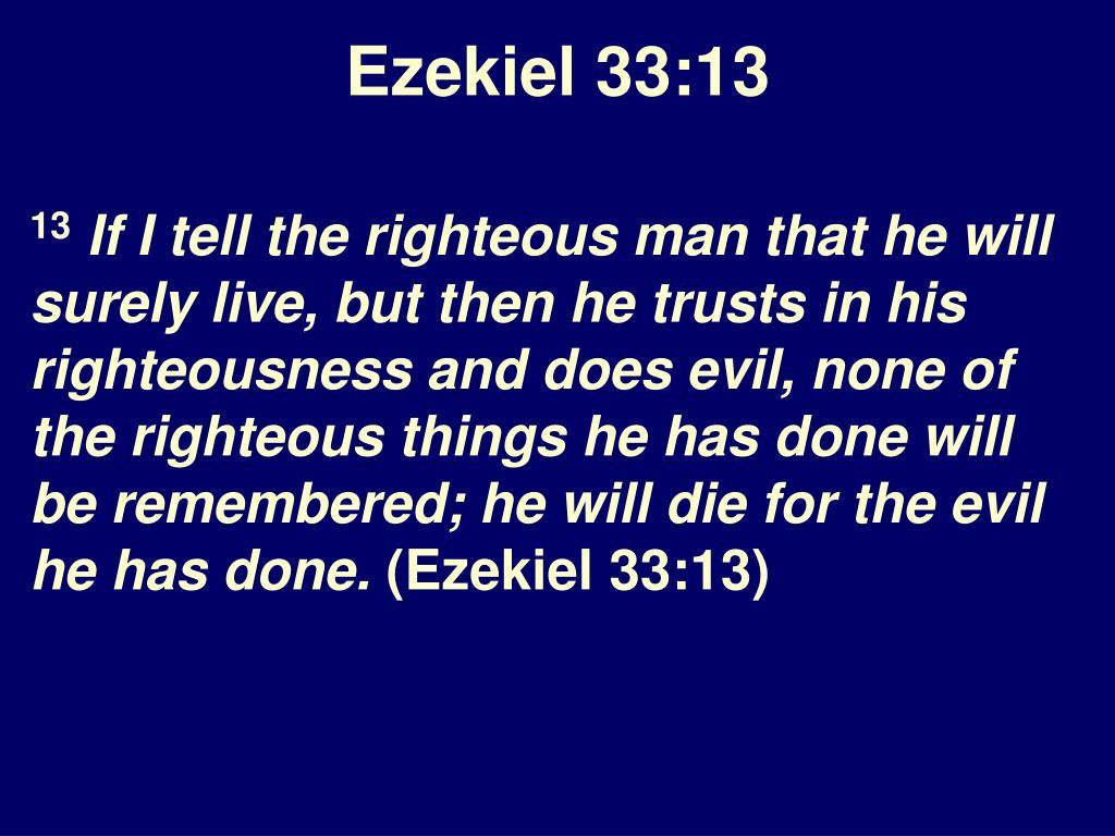 Ezekiel 33:13