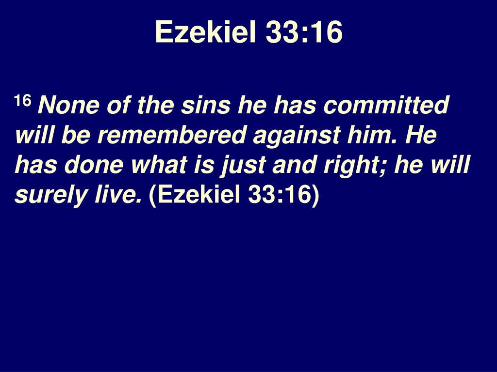 Ezekiel 33:16