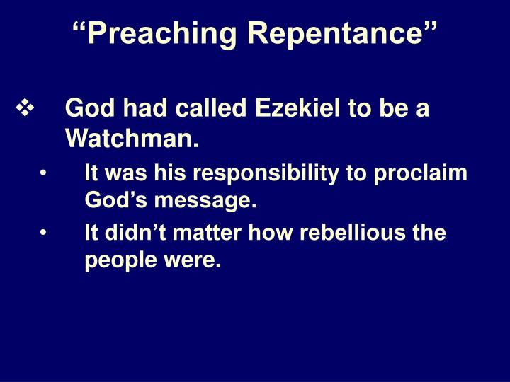 Preaching repentance